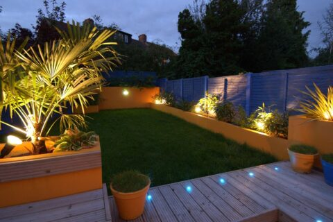 Outdoor Lighting in Fitzrovia W1W