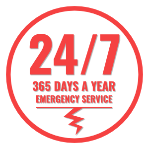24/7 365 Days a year electrical emergency services